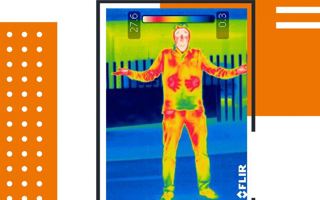 Càmera IP amb mesurament de temperatura corporal